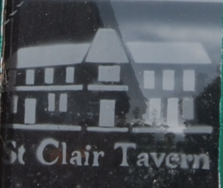 St Clair tavern window sticker